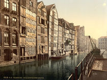 Hamburg, Hollaendischer Brook/ Photochrom von AKG  Images