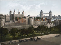 London, Tower Bridge / Photochrom 1900 by AKG  Images