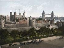 London, Tower Bridge / Photochrom 1900 von AKG  Images