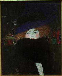 G.Klimt, Dame mit Hut und Federboa von AKG  Images
