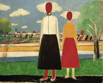 K.Malewitsch, Zwei Figuren in Landschaft by AKG  Images