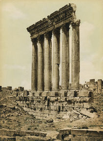 Baalbek, Tempel des Jupiter / Photochrom by AKG  Images