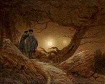 C.D.Friedrich, 2 Maenner Betrachtung Mond by AKG  Images