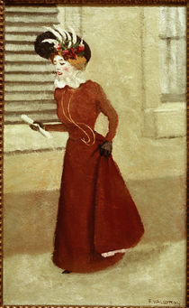 F.Vallotton, Frau mit Federhut by AKG  Images