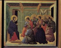 Duccio, Christi Abschied von Juengern von AKG  Images