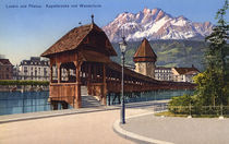 Luzern, Kapellbruecke / Photochrom by AKG  Images