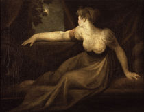 Fuessli, Dame am Fenster beim Mondschein by AKG  Images