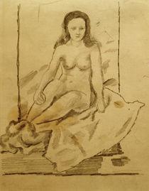 A.Macke, Weiblicher Akt 70 / Zeichnung von AKG  Images