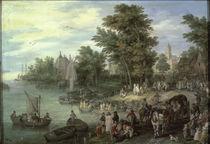 J.Brueghel d.Ae./ Landungsplatz/ 1615 by AKG  Images