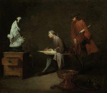 J.B.S.Chardin, Die Zeichenstudie by AKG  Images