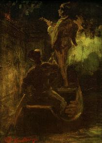 C.Spitzweg, Ein Staendchen vom Boot aus von AKG  Images