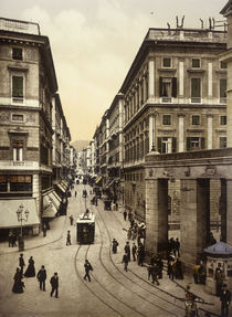 Genua, Via Roma / Foto um 1895 von AKG  Images