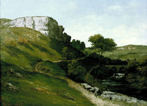 G.Courbet, Landschaft mit Fluss u.Bruecke by AKG  Images