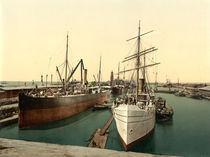 Bremerhaven, Neuer Hafen / Photochrom by AKG  Images