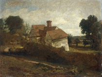 J.Constable, Landschaft mit Huetten von AKG  Images