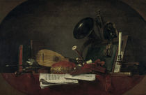 J.B.S.Chardin, Die Attribute der Musik by AKG  Images
