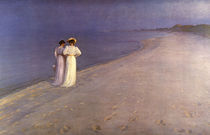 P.S.Kroeyer, Sommerabend am Strand/ 1893 by AKG  Images