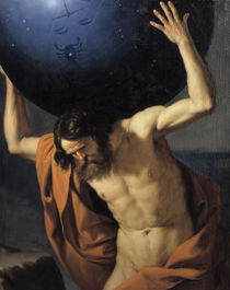 Guercino, Atlas by AKG  Images