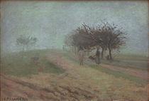 C.Pissarro, Nebliger Morgen in Creil von AKG  Images