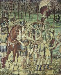 Scipio und Hannibal / Bildteppich 1550 von AKG  Images