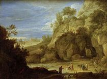 D.Teniers d.J., Felslandschaft mit ... by AKG  Images