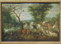 J.Brueghel d.Ae., Paradieslandsch.m.Arche by AKG  Images