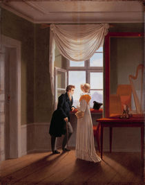 G.F.Kersting, Paar am Fenster / 1817 von AKG  Images