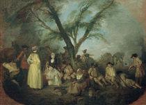 Antoine Watteau, Die Rast by AKG  Images