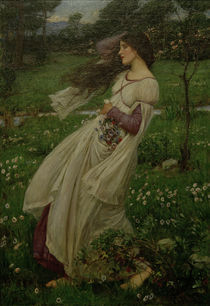 J.W.Waterhouse, Windflowers / Gem., 1902 von AKG  Images