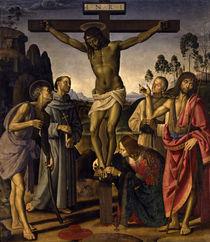 Signorelli u.Perugino, Christus am Kreuz von AKG  Images