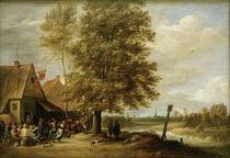 David Teniers d.J., Wirtshaus am Fluss von AKG  Images