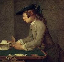 J.B.S.Chardin, Der Kartenhausbauer von AKG  Images