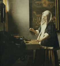 Vermeer, Die Perlenwaegerin by AKG  Images