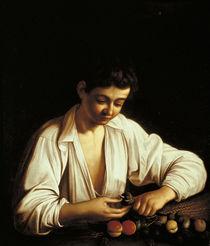 Caravaggio, Knabe, eine Frucht schaelend by AKG  Images