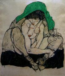 E.Schiele, Kauernde mit Kopftuch by AKG  Images