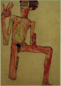 Egon Schiele, Kniender Selbstakt 1910 by AKG  Images