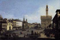 Florenz, Piazza della Signoria /Bellotto von AKG  Images