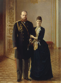Alexander III. u. M.Feodorowna/ Kramskoi von AKG  Images