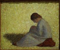 G.Seurat, Baeuerin, im Gras sitzend von AKG  Images
