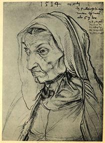 Duerers Mutter / Zeichnung v.A.Duerer von AKG  Images