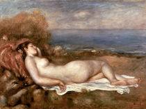 Renoir/ Baigneuse chouchee au bord ... von AKG  Images
