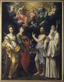 G.Reni, Kroenung Mariae mit vier Heiligen von AKG  Images