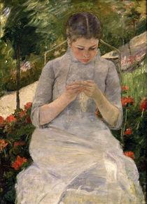 M.Cassatt, Junges Maedchen im Garten by AKG  Images