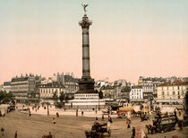 Paris, Place de la Bastille / Photochrom von AKG  Images