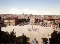 Rom, Piazza del Popolo / Photochrom by AKG  Images