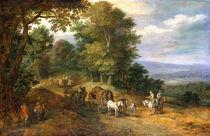 Jan Brueghel d.Ae., Belebter Fahrweg von AKG  Images