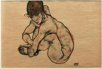 Egon Schiele, Kauernder Maedchenakt von AKG  Images