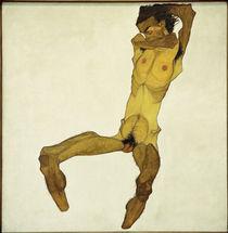 Egon Schiele, Sitzender Maennerakt von AKG  Images