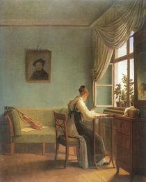G.F.Kersting, Am Stickrahmen / 1827 von AKG  Images