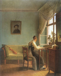 G.F.Kersting, Am Stickrahmen / 1827 by AKG  Images